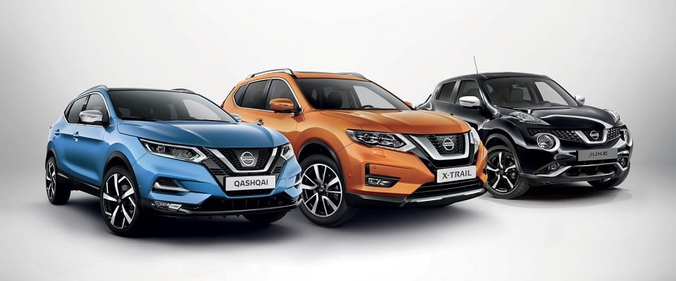 Nissan crossovers